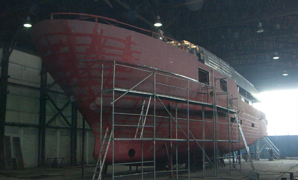 35m Travel Motoryacht Building Phase